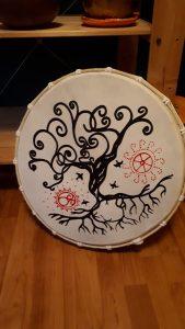 Rahmentrommel Baum